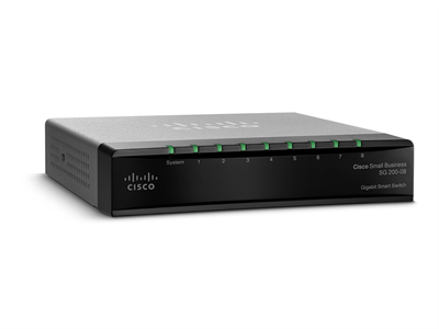 Cisco, SLM2008T SG200-08 8-port Gigabit Smart Switch