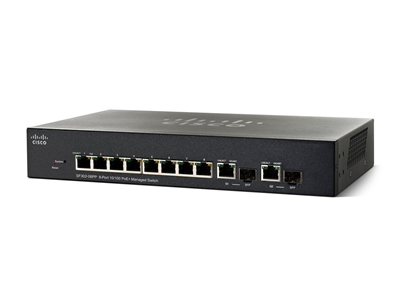 Cisco, SRW208G-K9 SF302-08 8-port 10/100 Managed Switch with Gigabit Uplinks