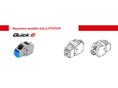Fibrain keystone modul, FTP cat.6