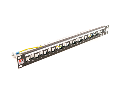Fibrain, Moduláris Patch Panel, üres, 24x