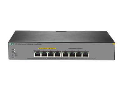 HP Enterprise, OfficeConnect 1920S 8Gbit PPoE+ 65W 8 Ports Manageable Ethernet Switch - 3 Layer Supported