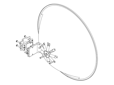 Jirous, 44dBi - 24GHz parabola for RACOM Ray24 (90cm)