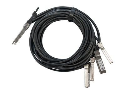 MikroTik, 40 Gbps QSFP+ break-out cable to 4x10G SFP+