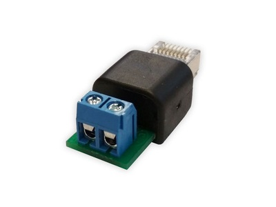Racom, Adapter for DC power, Terminals to RJ45, RAy3