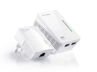 TP-Link, TL-WPA2220KIT 300Mbps Ethernet powerline Adapter KIT+ 300Mbps Wifi, AC Pass Through