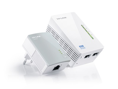 TP-Link, TL-WPA4220KIT 500Mbps Ethernet powerline Adapter KIT+ 300Mbps Wifi, AC Pass Through